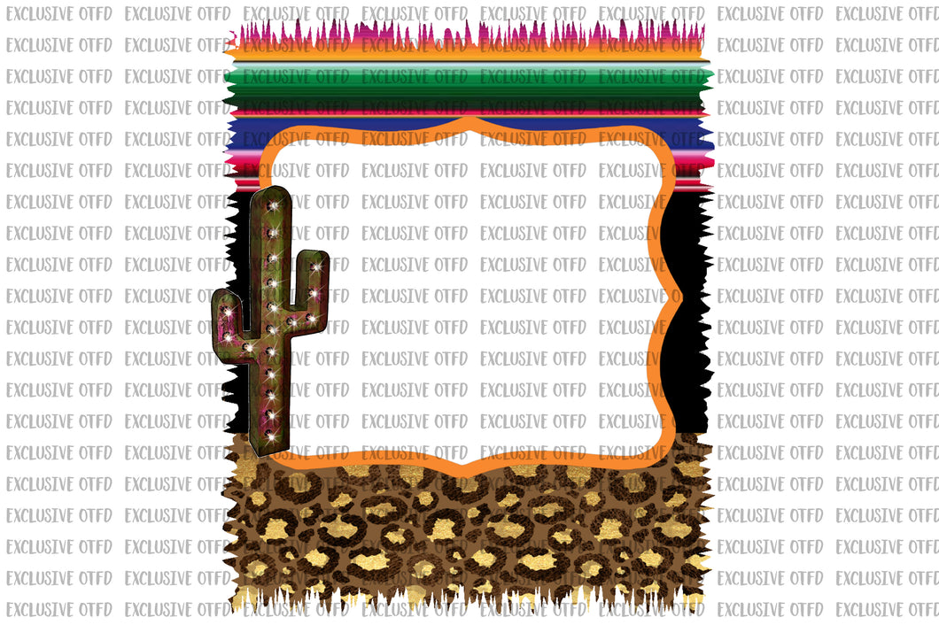serape and leopard frame