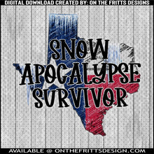 Load image into Gallery viewer, snow apocalypse survivor