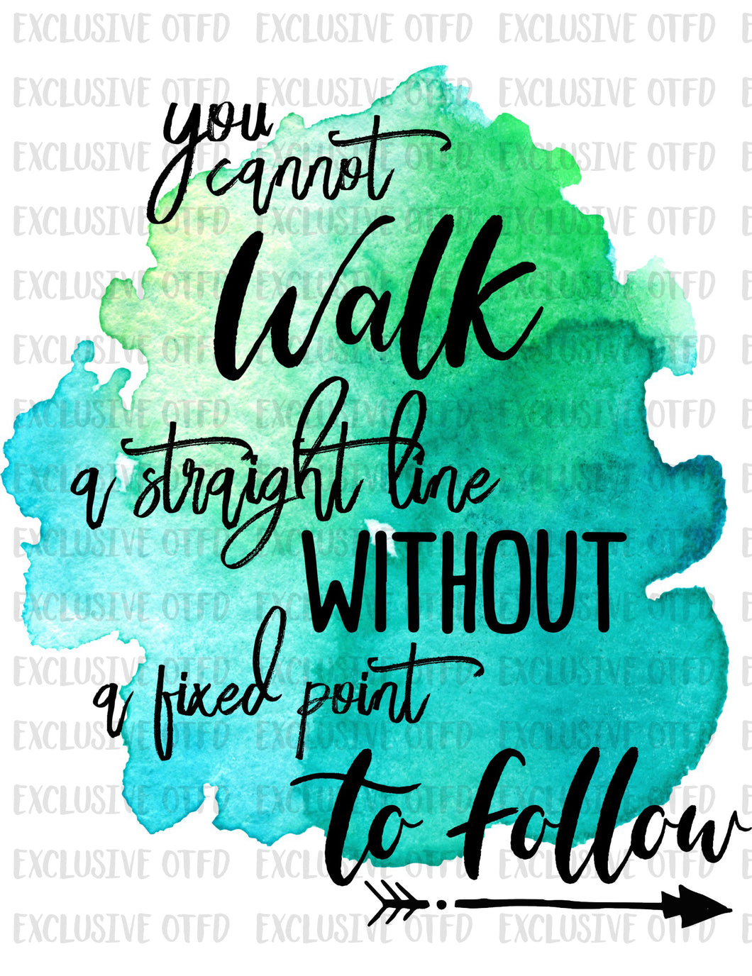 you cannot walk a straight line