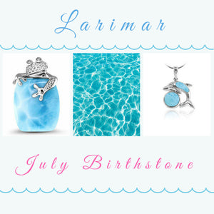 Larimar - alternative Birthstone for July.
