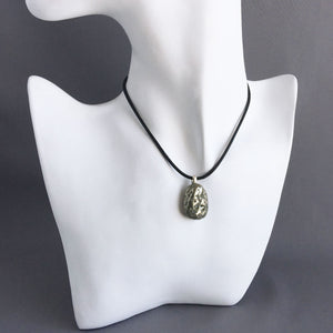 Pyrite and sterling silver pendant