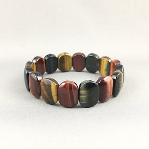 Golden, blue and red tiger eye bracelet