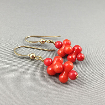 1d5f628c5 Red coral and gold filled jewelry set - Les Deux Artisans