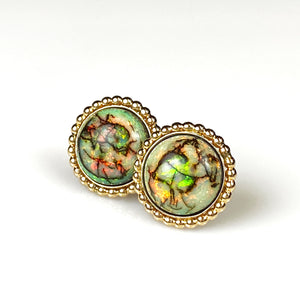 Opal and gold-filled earrings