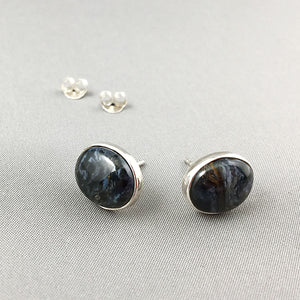 Pietersite and sterling silver earrings