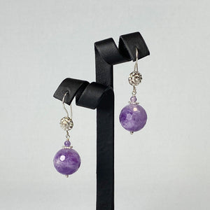 Amethyst and sterling silver earrings