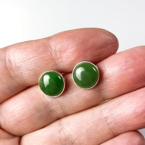 Canadian jade and sterling silver earrings