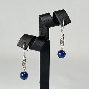 Gem quality kyanite and sterling silver earrings