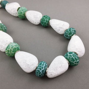 Crackle quartz and agate necklace