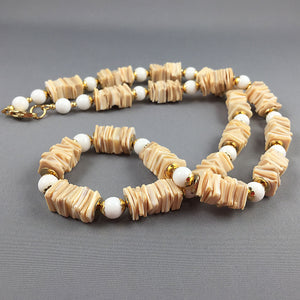 Cebu shell and white coral necklace