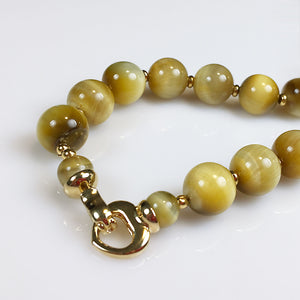Golden tiger eye necklace