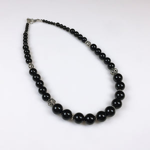 Black onyx and sterling silver necklace