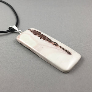 Picture jasper and sterling silver pendant