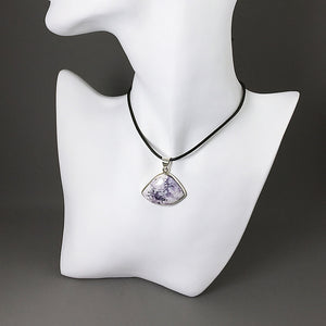 Tiffany stone and sterling silver pendant