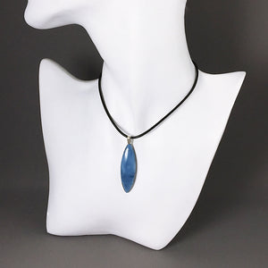 Owyhee blue opal and sterling silver pendant