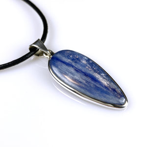 Kyanite and sterling silver pendant
