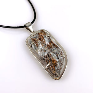 Astrophyllite and sterling silver pendant
