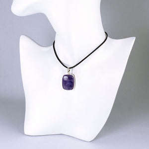 Charoite and sterling silver pendant