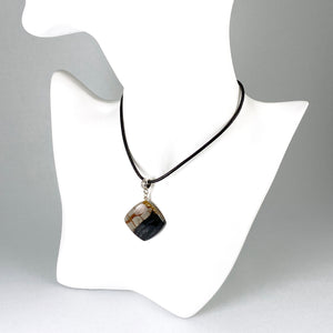 Picasso marble and sterling silver pendant