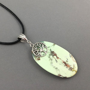 Lemon chrysoprase and sterling silver pendant