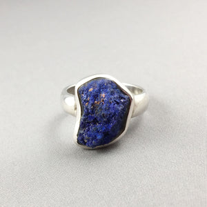 Azurite and sterling silver set