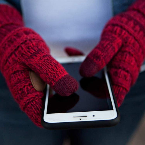 Knitted Texting Gloves