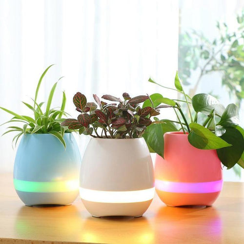 LED Music Planter Pot