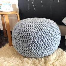 Nordic Knitted Ottoman