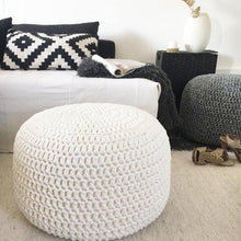 Load image into Gallery viewer, Nordic Knitted Ottoman