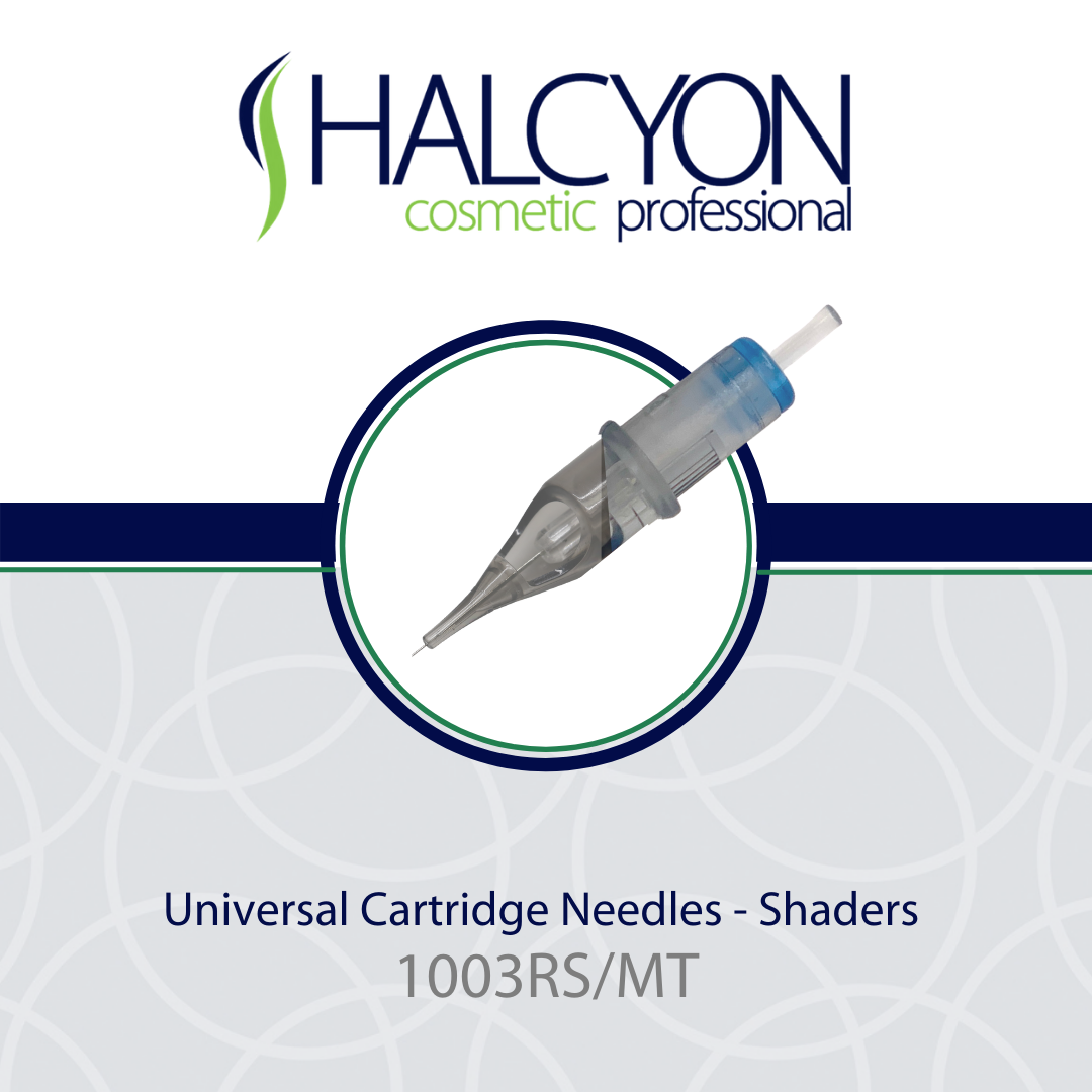HALCYON COSMETIC PROFESSIONAL Universal Cartridge Needles | 1003RS/MT - Halcyon Cosmetic Store