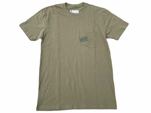 Military Green LC Stacked Off Set Logo Pocket T-Shirt