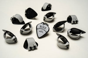 12, Medium Gauge, Black Mountain Thumb Picks (Right Handed)
