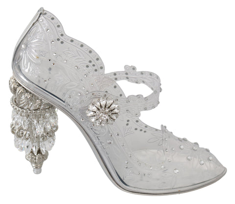 Brown Leopard Silk Raso Crystal Pumps