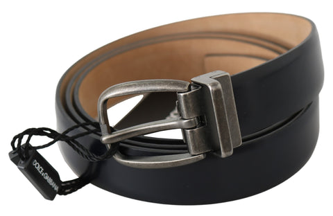 Black Leather Mary Janes Pumps