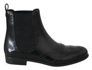 Blue Eel Skin Ankle Strap Pumps