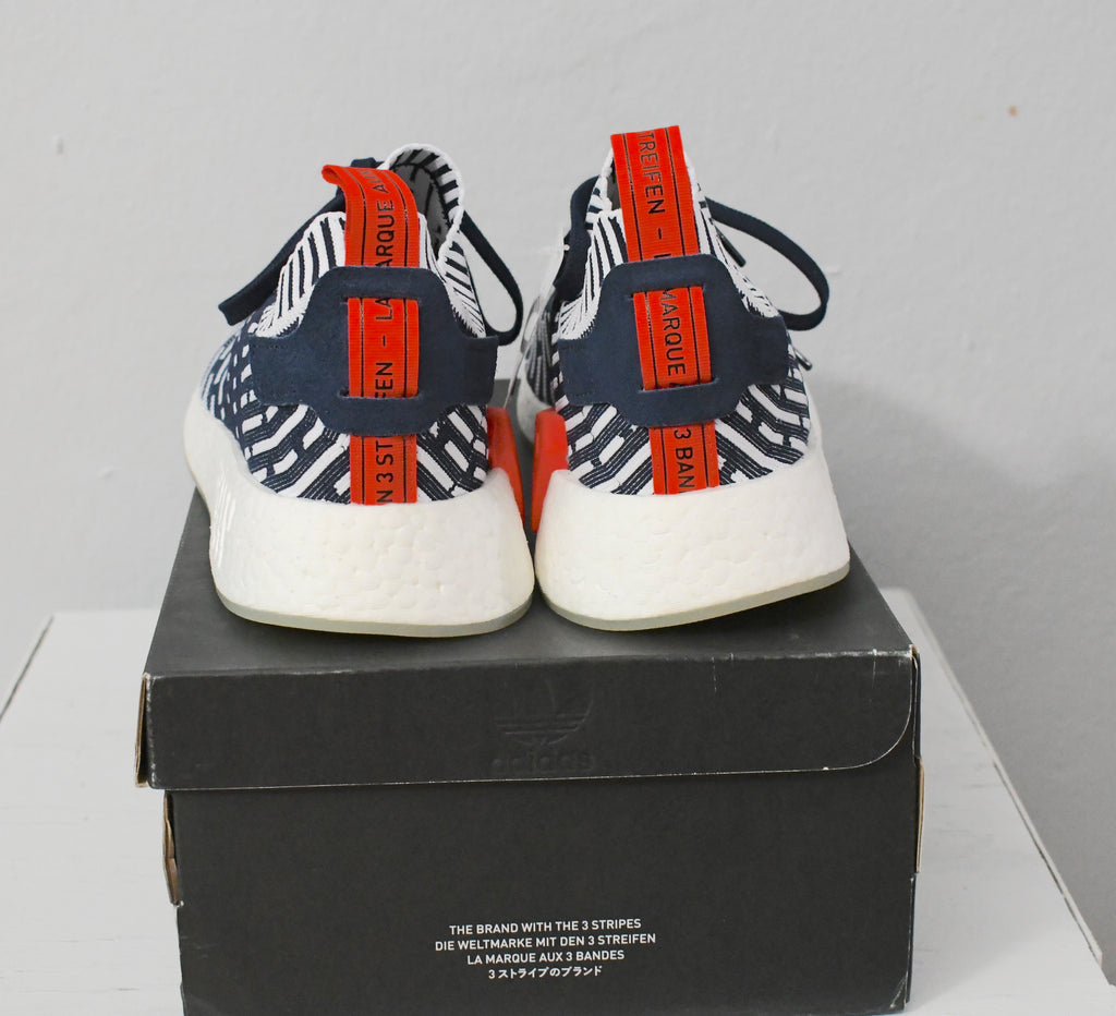 nouveaux styles 50614 80fd8 DS adidas NMD R2 PK Navy White - BB2909 - Size 10.5 ...