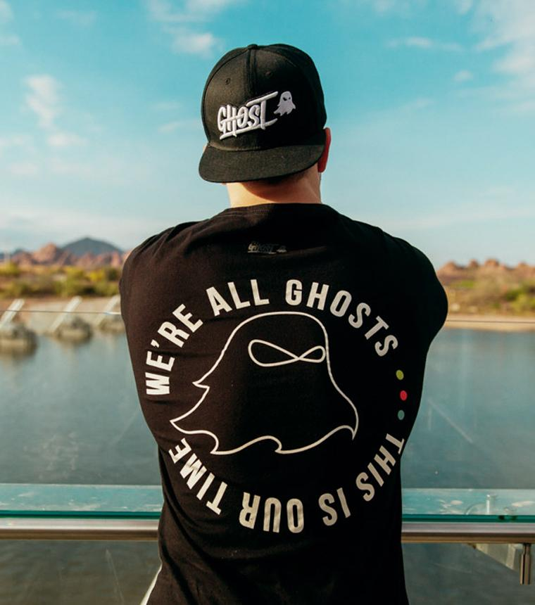 Apparel | Halen wearing our GHOST LOGO SNAPBACK