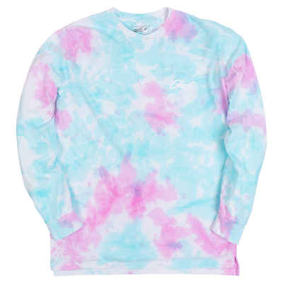 GHOST® TIE DYE LONG SLEEVE Pink & Teal