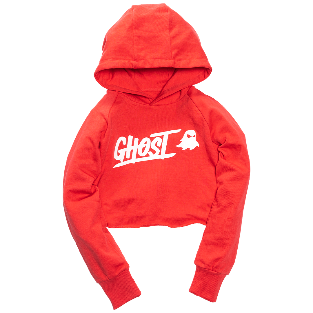 GHOST® WOMEN'S CROPPED HOODIE Infrared