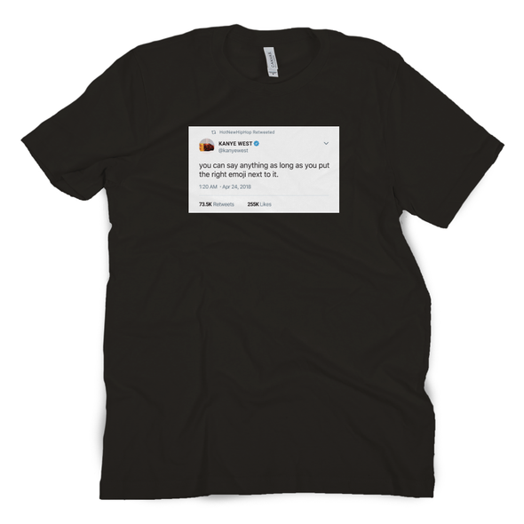 Right Emoji Tweet Tee
