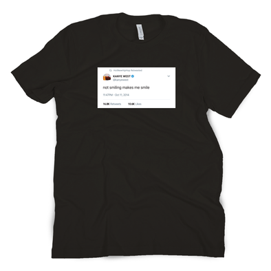 Not Smiling Tweet Tee