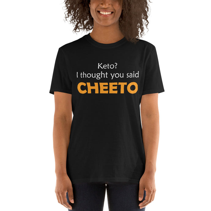 Keto? Short-Sleeve Unisex T-Shirt Black