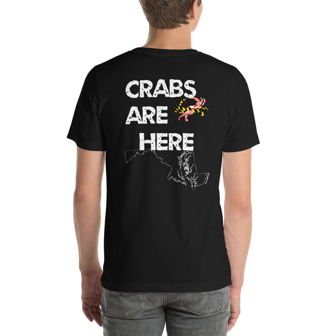 Crabs are Here Short-Sleeve Unisex T-Shirt