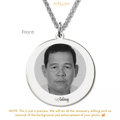 Photo Disc Necklace