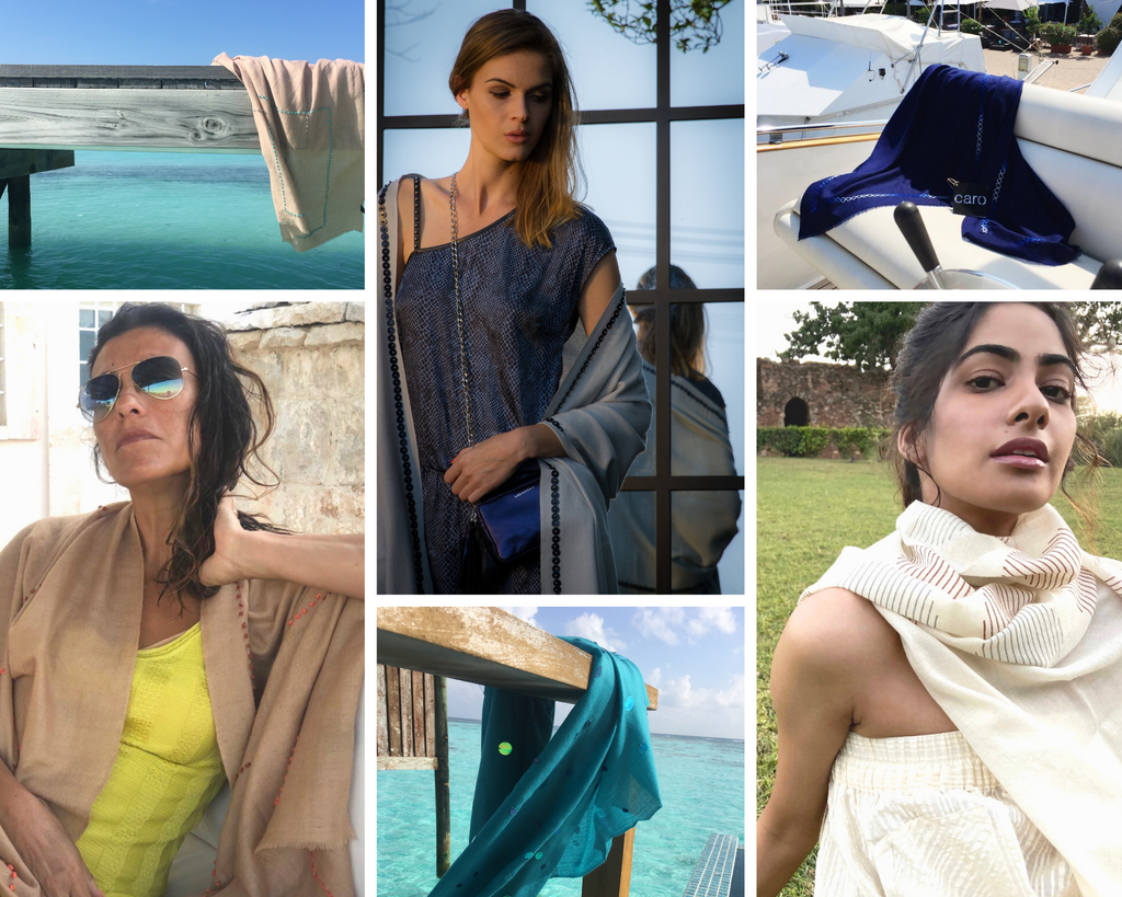 How to style your cashmere scarf in summer