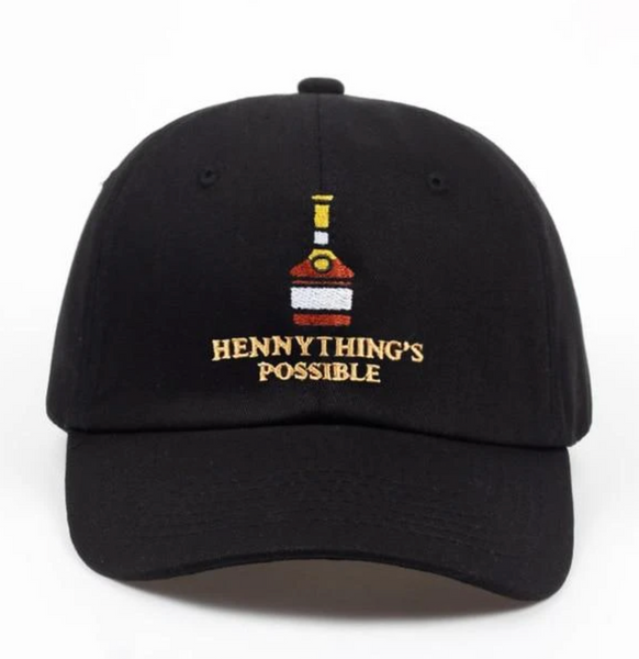 Dad hat with Hennything's Possible embroidered design.