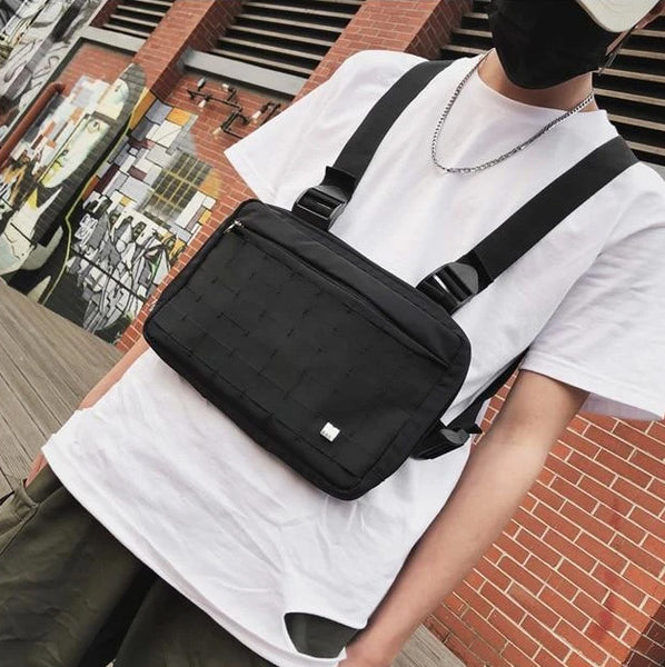 men's streetwear fashion chest rig