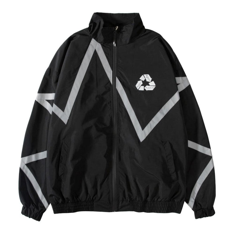 """Reflective Stripes"" Jacket"