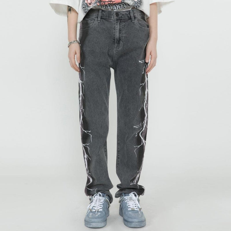 """Lightning"" Denim Jeans"