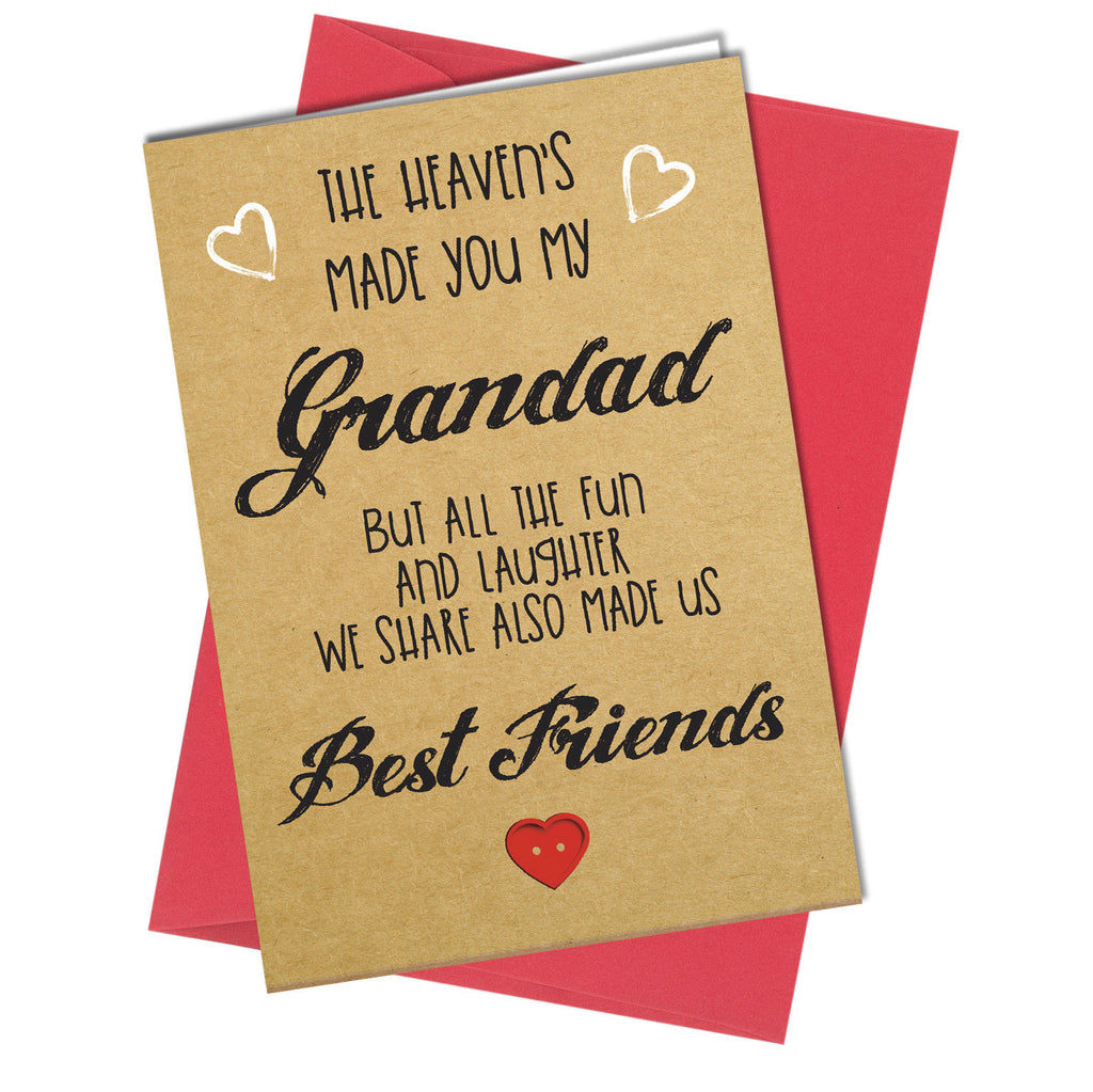 704 Birthday Fathers Day Grandad Card Love Best Friends Thank You